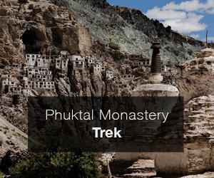 Trek to Phuktal monastery in Zanskar valley, India